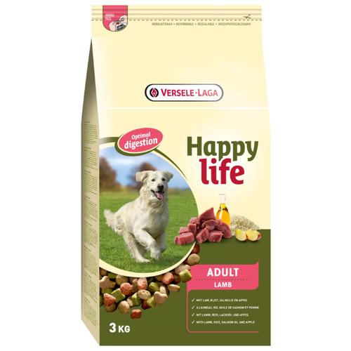 Сухой корм для собак Happy life (3 кг) Adult with Lamb 3 кг сухой корм для собак landor 3 кг adult lamb with rice с мясом ягненка 3 кг