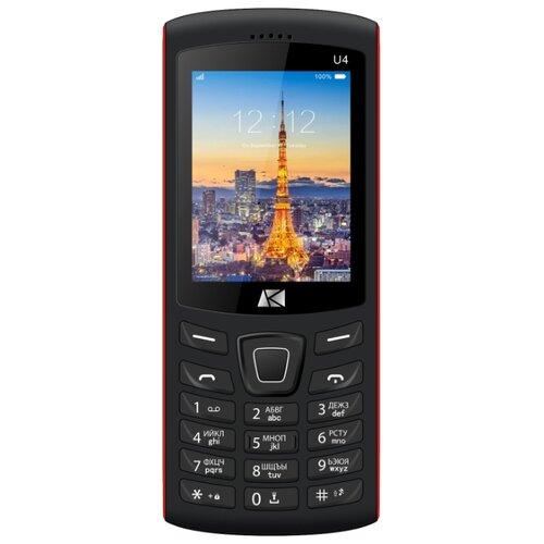 Телефон Ark Benefit U4 красный сотовый телефон ark benefit s452 black