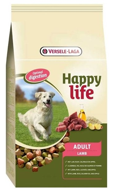 Корм для собак Happy life Adult with Lamb
