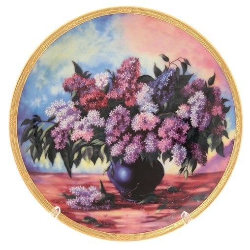 Elan gallery Тарелка декоративная Букет сирени 18 см
