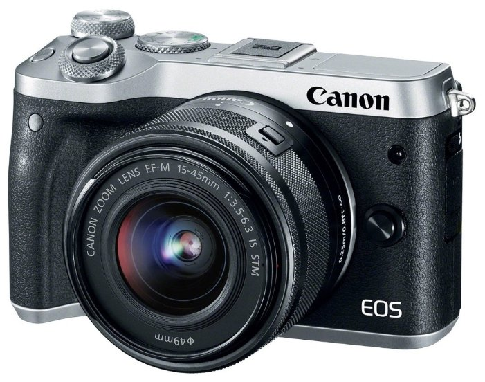 Фотоаппарат Canon EOS M6 Kit черный/серебристый 15-45 IS STM f/ 3.5-6.3 LP-E17