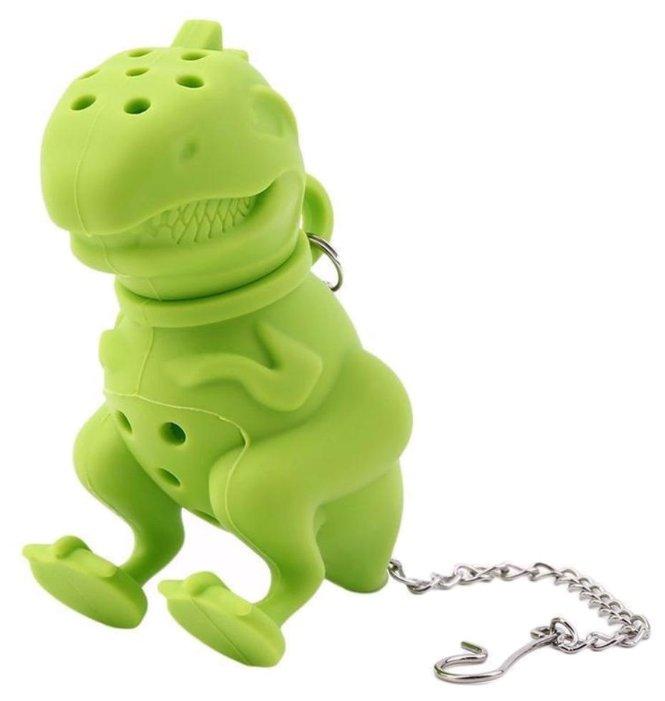Ситечко для заварки FidgetGo Грозный Динозавр зеленый