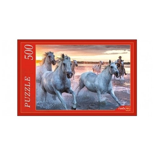 Пазл Рыжий кот Лошади на закате (КБ500-7936), 500 дет.