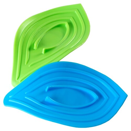 Подставка ruges Листики V-7 зеленый/голубой