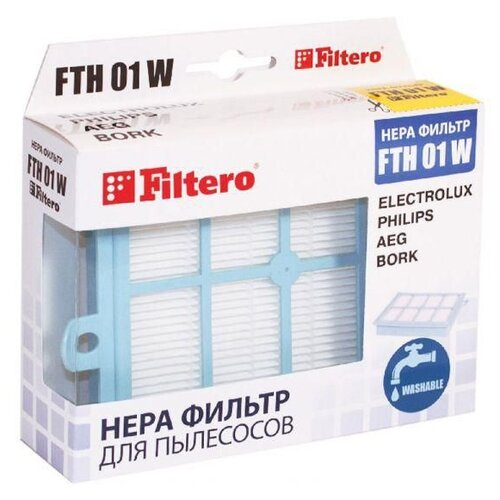 Filtero HEPA-фильтр FTH 01 W 1 шт. фильтр filtero fth 01 w elx hepa моющийся для electrolux philips