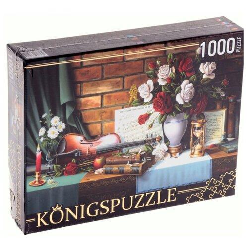 Фото - Пазл Рыжий кот Konigspuzzle Натюрморт со скрипкой (АЛК1000-6505), 1000 дет. пазл рыжий кот konigspuzzle россия йошкар ола гик1000 6534 1000 дет