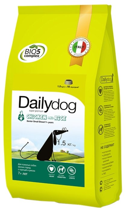 Корм для собак Dailydog Senior Small Breed Chicken and Rice