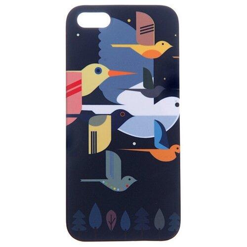 Купить Чехол Mitya Veselkov IP5.МITYA-050 для Apple iPhone 5/iPhone 5S/iPhone SE птицы на темно-синем