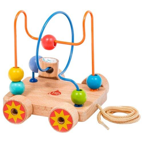 Купить Каталка-игрушка Lucy & Leo Лабиринт с бусинками (LL150) коричневый/желтый/красный, Каталки и качалки
