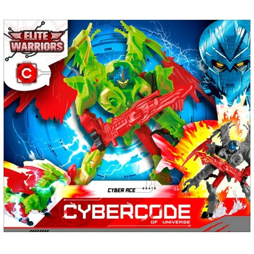 Трансформер Cybercode Cyber Ace зеленый/красный zormaer cybercode ironside intruder