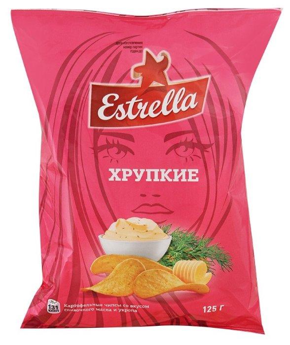 Чипсы ESTRELLA Хрупкие картофельные Сливочное масло и укроп
