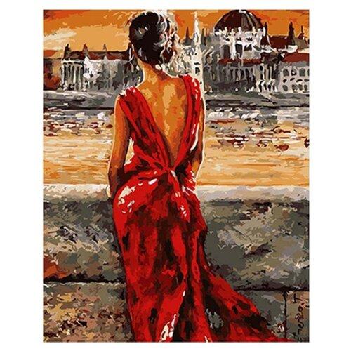 Купить Paintboy Картина по номерам Леди в красном 40х50 см (GX8946), Картины по номерам и контурам