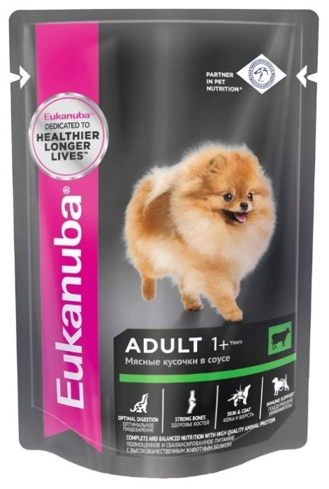 Корм для собак Eukanuba для здоровья кожи и шерсти, говядина 100г