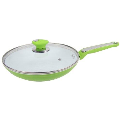 Сковорода Bohmann BH-7822 22 см, с крышкой, зеленыйСковороды и сотейники<br>