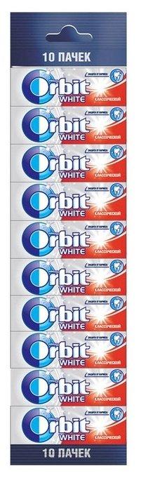 Жевательная резинка Orbit White классический без сахара, 10 шт.