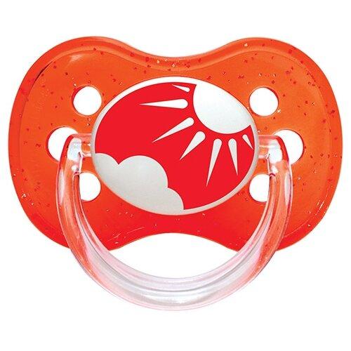 Купить Пустышка силиконовая классическая Canpol Babies Nature 6-18 м (1 шт) красный, Пустышки и аксессуары