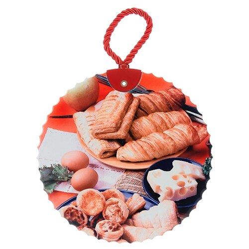 Подставка под горячее Elan gallery Хлебное ассорти 16*16*1 см., круглая, шнурок подставка под горячее rosenberg 16 5 см