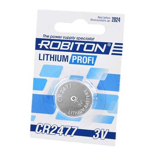 Фото - Батарейка ROBITON Lithium Profi CR2477 1 шт блистер элемент питания robiton profi 2cr5 блистер 1шт
