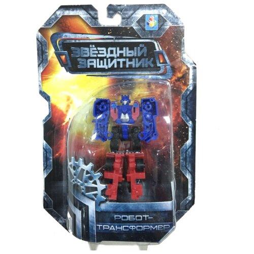 Трансформер 1 TOY Звездный защитник Грузовик красно-сине-черный трансформер 1 toy звездный защитник космолет красный черный