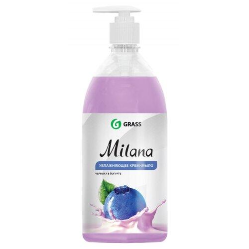 Крем-мыло жидкое Grass Milana черника в йогурте, 1 л жидкое крем мыло grass milana жемчужное 5л
