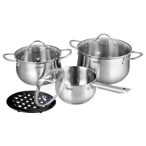 Набор посуды Vitesse Melanie VS-2062 7 пр. серебристый набор посуды vitesse vs 2901 4
