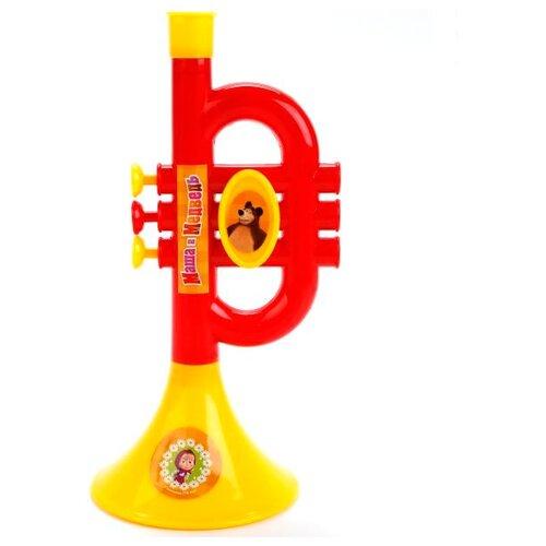 Купить Играем вместе труба Маша и Медведь B782628-R2 красный/желтый, Детские музыкальные инструменты