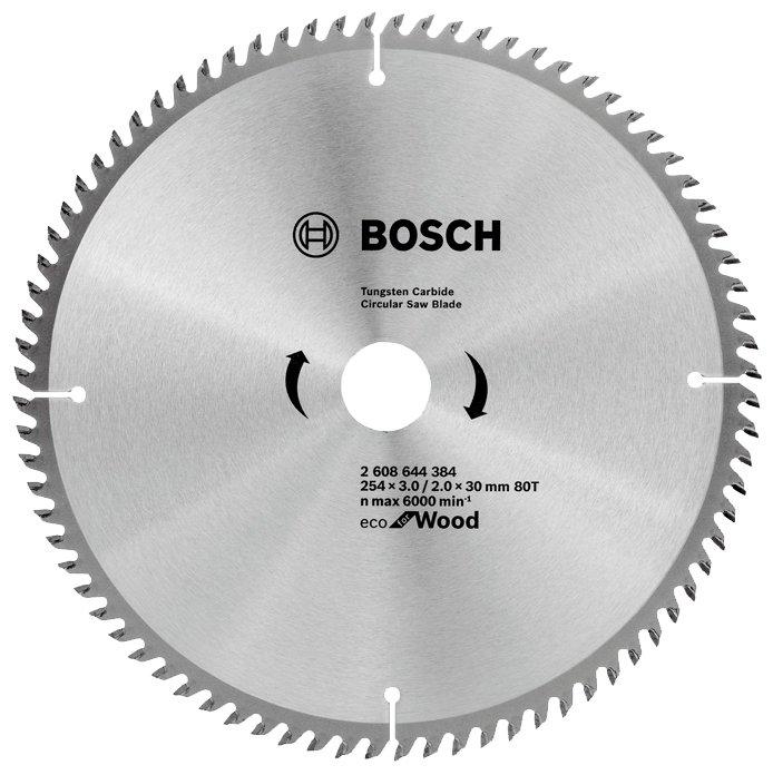 Пильный диск BOSCH Eco Wood 2608644384 254х30 мм