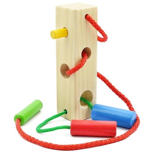 Шнуровка Мир деревянных игрушек Брусочек (Д390)