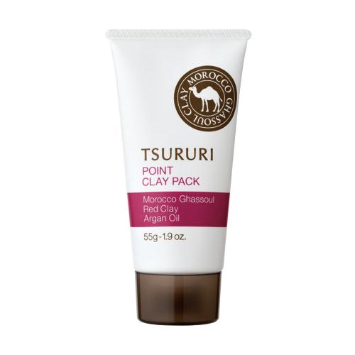 Купить TSURURI Маска Point Clay Pack для Т-зоны с марокканской глиной гассул, красной глиной и аргановым маслом, 55 г