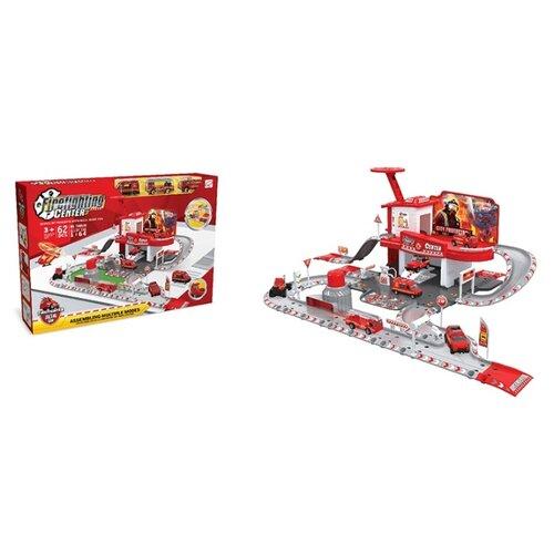 Купить Shantou Gepai Игровой набор Пожарная станция TH8549 красный/белый/серый, Детские парковки и гаражи