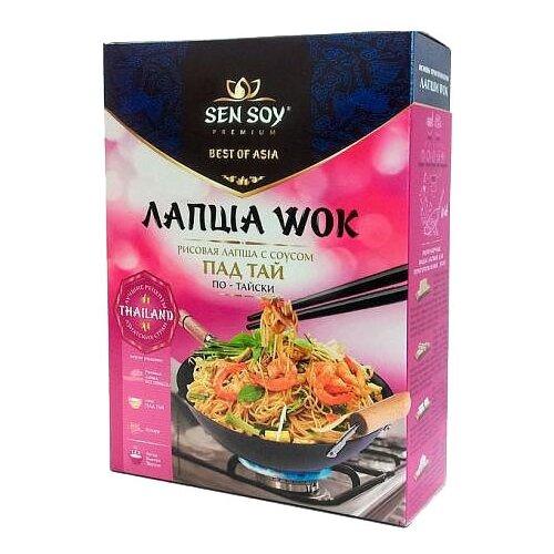 Лапша Sen Soy Wok рисовая пад тай по-тайски 235 г sen soy premium лапша рисовая с соусом pad thai и кунжутом 235 г
