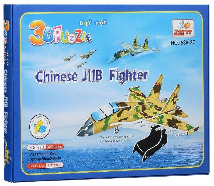 3D-пазл Zilipoo 3D Военный самолет (589-2C), 32 дет.