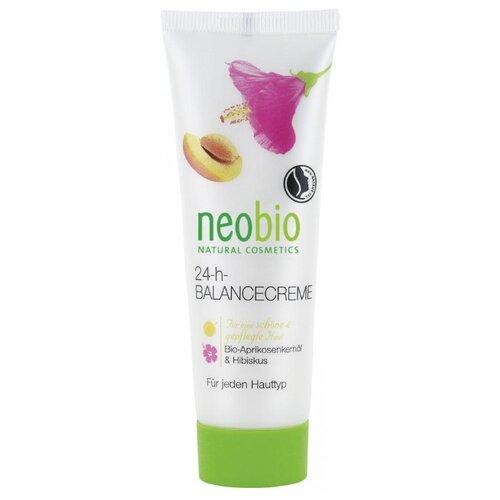 Neobio 24 часа Баланс крем для лица с био-абрикосом и экстрактом бамии, 50 мл детская косметика neobio крем с био алоэ и био календулой для младенцев для защиты кожи в области пеленания
