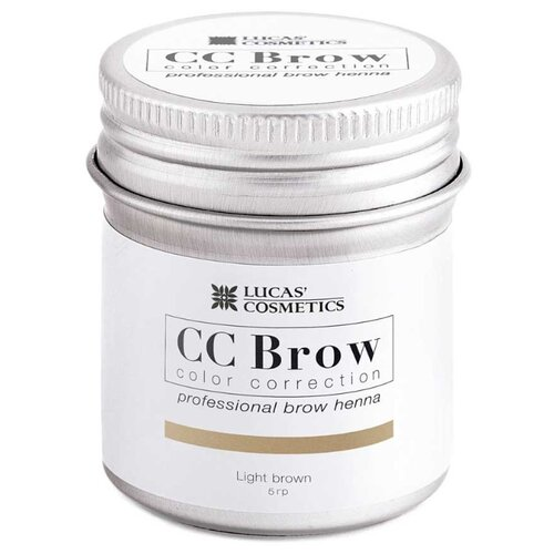 CC Brow Хна для бровей в баночке 5 г light brown хна для бровей cc brow cc brow cc003lwxzk04