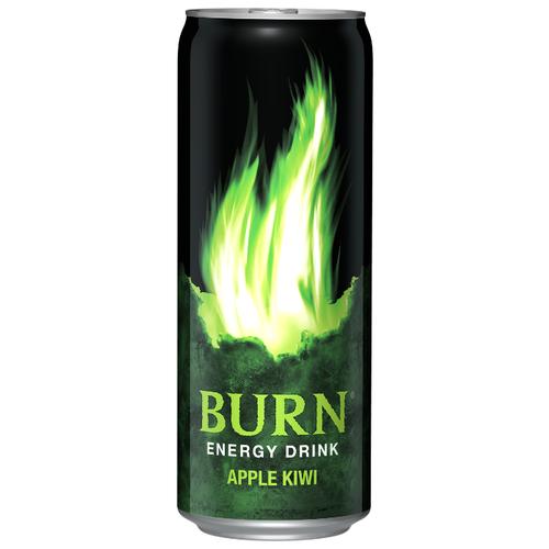 Энергетический напиток Burn Яблоко-киви, 0.33 лЭнергетические напитки<br>