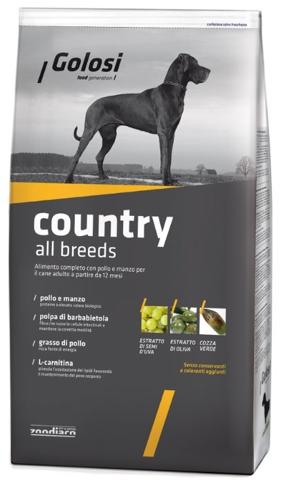 Корм для собак Golosi Country All Breeds