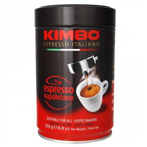 Кофе молотый Kimbo Espresso Napoletano жестяная банка, 250 г кофе молотый i̇stanbul türk kahvesi c ароматом карамели жестяная банка 250 г