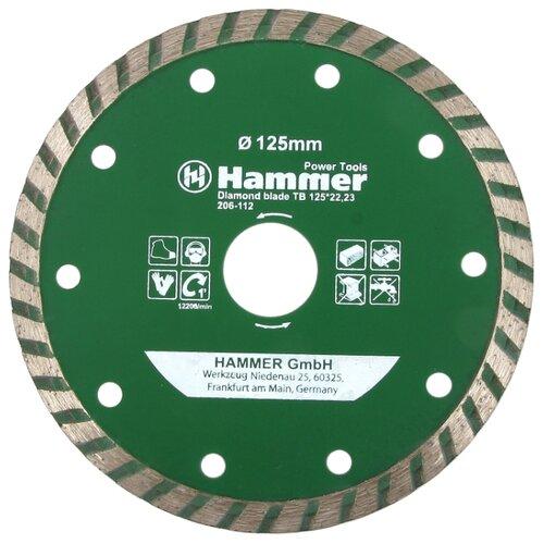 цена на Диск алмазный отрезной 125x22.23 Hammer Flex 206-112 DB TB 1 шт.