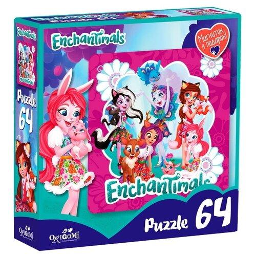Купить Пазл Origami Enchantimals Волшебные подружки (03559), деталей: 64, Пазлы