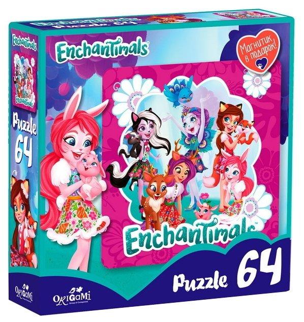 Пазл Origami Enchantimals Волшебные подружки (03559), 64 дет.