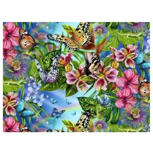 Color Kit Картина по номерам Бабочки 30х40 см (KS019) кпр 013 фреска картина из песка радужные бабочки 20х23х4