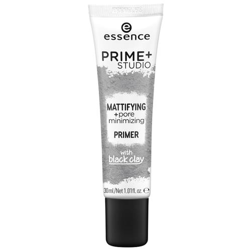 Essence матирующий праймер Prime Studio Mattifying Pore Minimizing Primer with Black Clay 30 мл серый max factor miracle prep pore minimising mattifying primer