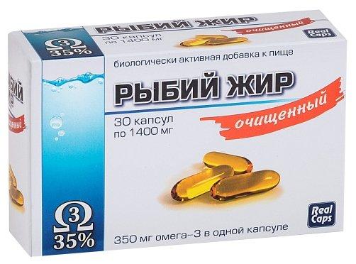 Рыбий жир очищенный капс. 1400мг №30