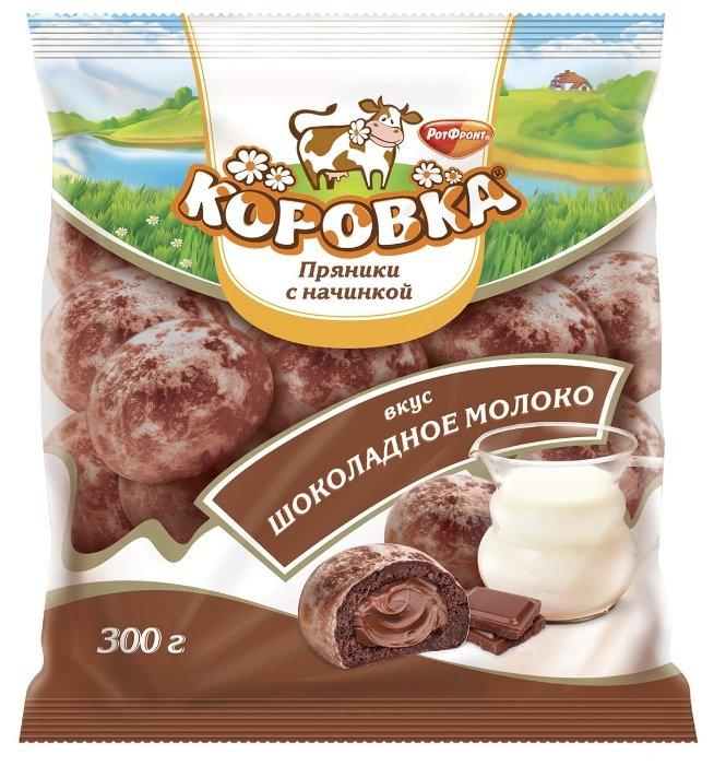 Пряники Коровка с начинкой вкус Шоколадное молоко 300 г