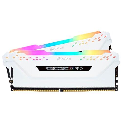 Оперативная память Corsair DDR4 3200 (PC 25600) DIMM 288 pin, 16 ГБ 2 шт. CL 16, CMW32GX4M2C3200C16W