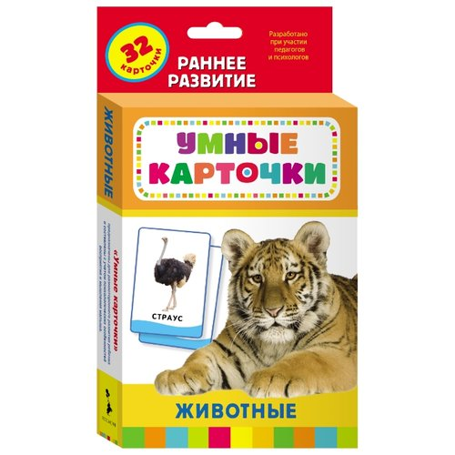Купить Набор карточек РОСМЭН Животные 20991 20x11 см 32 шт., Дидактические карточки
