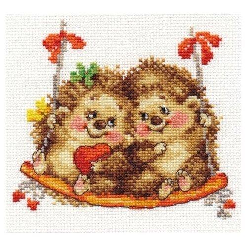 Купить Алиса Набор для вышивания крестиком На качелях 14 х 13 см (0-115), Наборы для вышивания