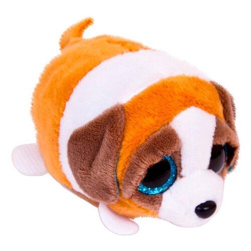 Мягкая игрушка Chuzhou Greenery Toys Собачка коричневая с белым 6 см