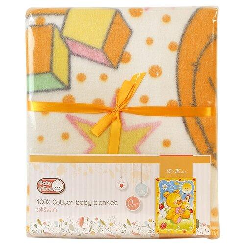 цена на Одеяло Baby Nice D121511 85х115 см Солнечный мишка, желтый