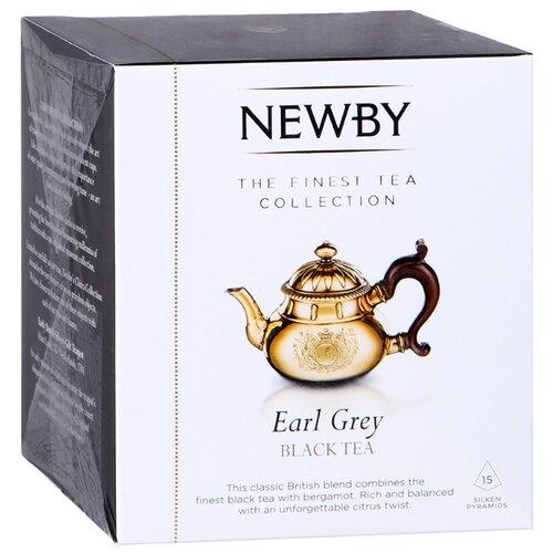 Чай черный Newby Earl grey в пирамидках , 15 шт. newby hunan green зеленый чай в пирамидках 15 шт